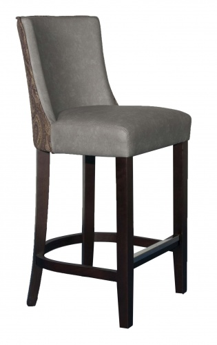 MILANO PETITE BAR  Curved back upholstered Bar stool