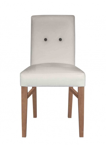 BOSCO BUTTON BACK  Contemporary Low Back Dining Chair