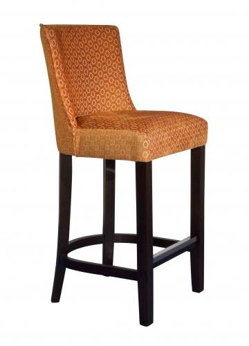 MILANO PETITE BAR  Curved back upholstered Bar stool