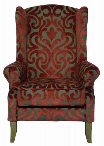 KNIGHTSBRIDGE  Classic Wing Back Armchair