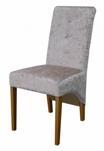VENICE ROLL BUTTON BACK  Classic Roll Back Dining Chair