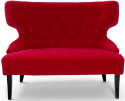 ADONIS 2  Sophisticated Wing Back 2 Seater Occasional Chair